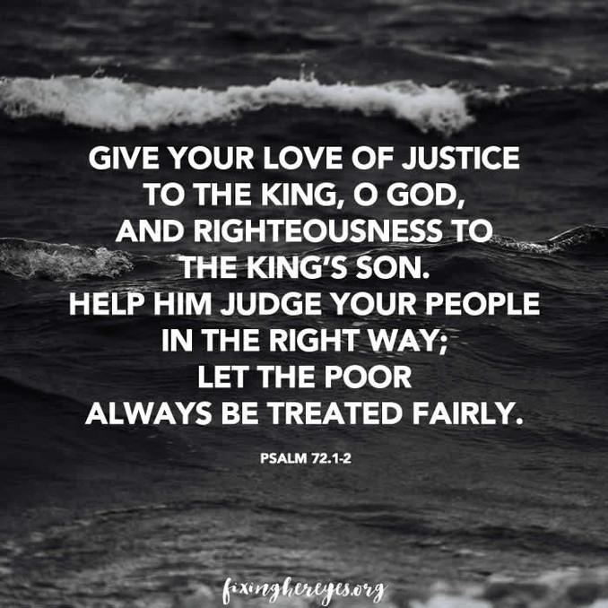 Daily Reflection: Psalm 72.1-2