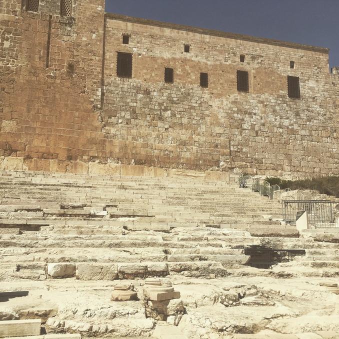 Walking in Jesus' footsteps - Temple Steps