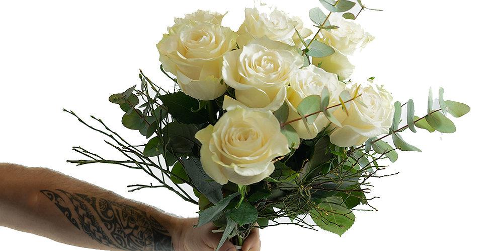 Bouquet de roses dernier hommage