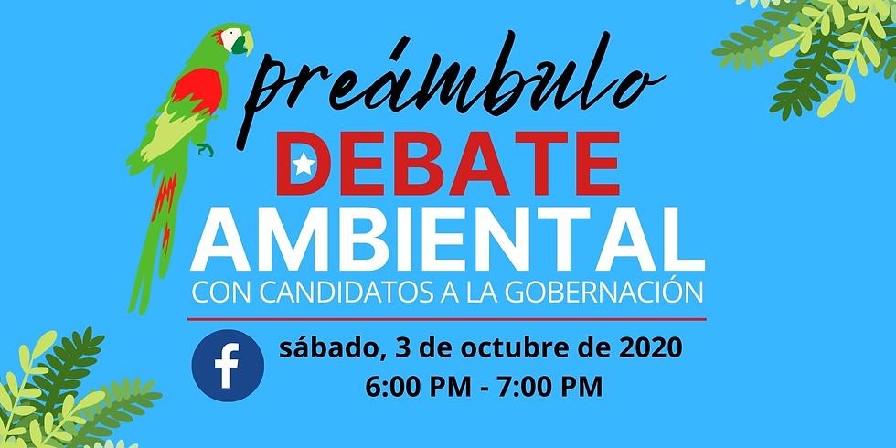 Facebook Live: Preámbulo al debate ambiental