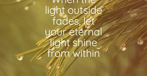 When the light...