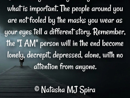 Do not let your vanity...