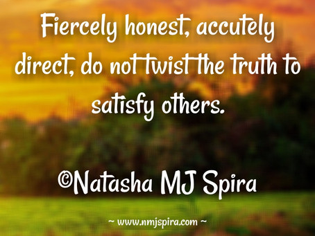 Fiercely honest...