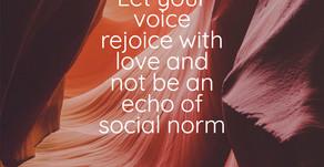 Let your voice rejoice...