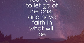 You have to let go...
