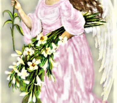 Angel with flowers...