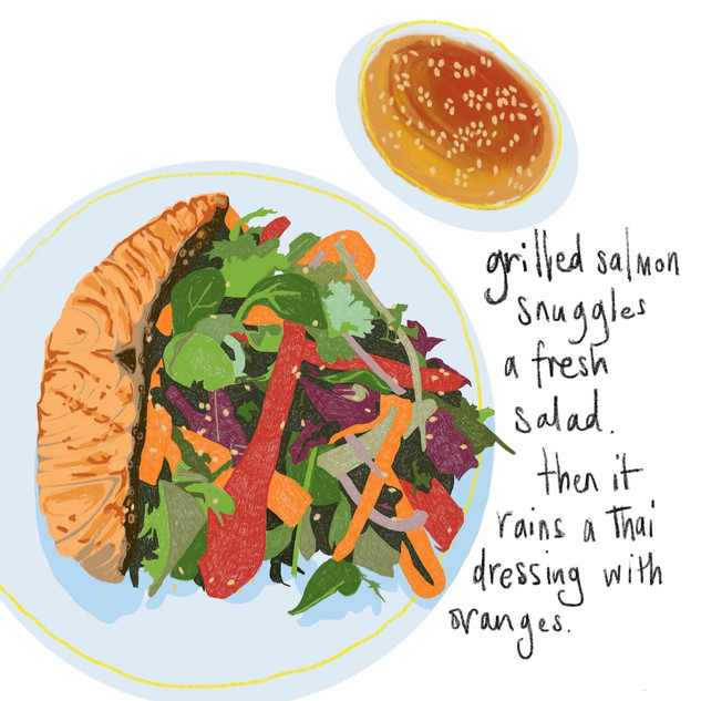 Grilled Salmon & Thai Salad