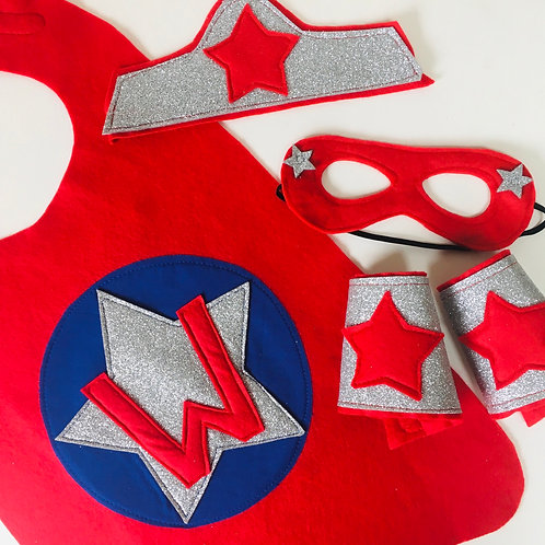 Kids Felt Superhero Star Cape with Letter