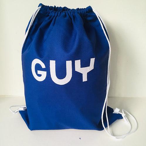 Plain Fabric Custom School Rucksack, Waterproof Lined Bag, Personalised Backpack