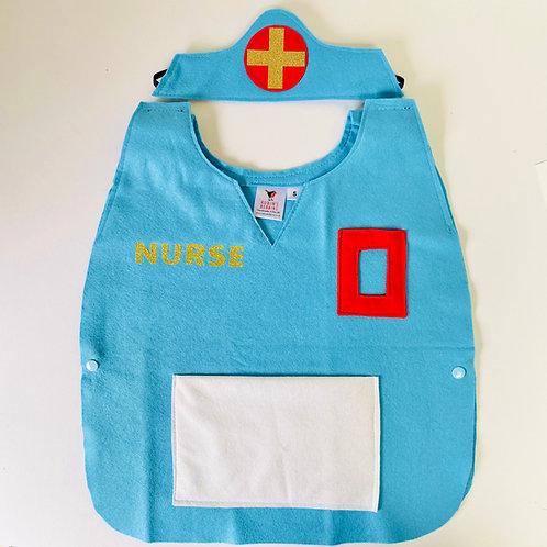 Any Size Nurse Costume, Doctor Costume, Medical Hospital Dress Up
