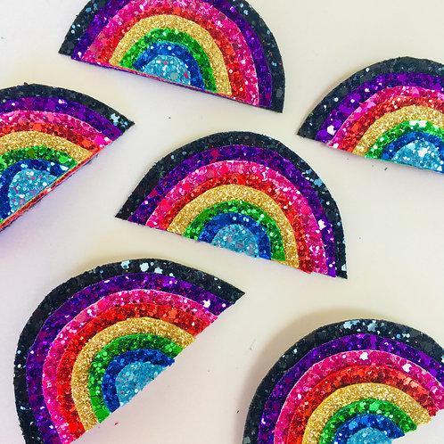 Rainbow Badge, Glitter Rainbow Pin, Diversity Charity Pin