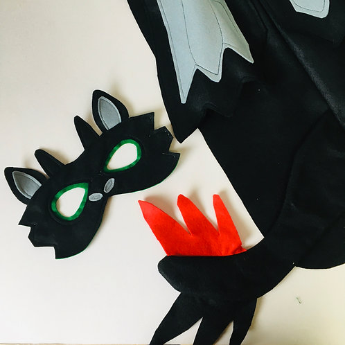 Black Dragon Costume, Black Dragon Outfit, Halloween Dragon, World Book Day