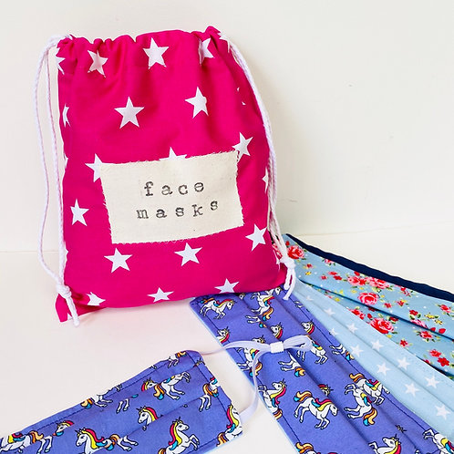 Personalised Wash Bag, Face Mask Bag, Machine Washable Shower Bag