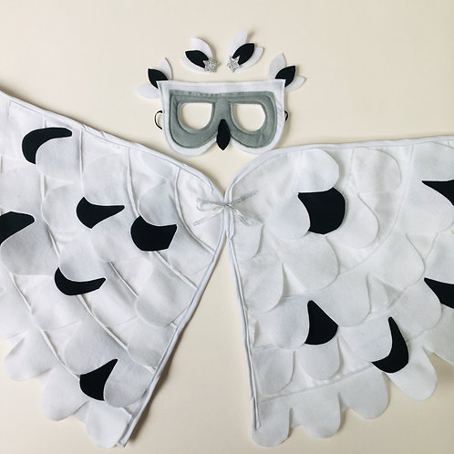 Snowy Owl Wings, White Owl Costume, Speckled Owl Costume, Halloween Owl Wings