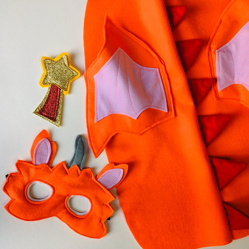 Any Size Orange Dragon Costume, World Book Day / Halloween Dragon