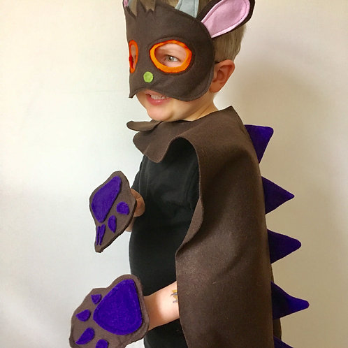 Any Size Brown Monster Costume, World Book Day / Halloween Monster
