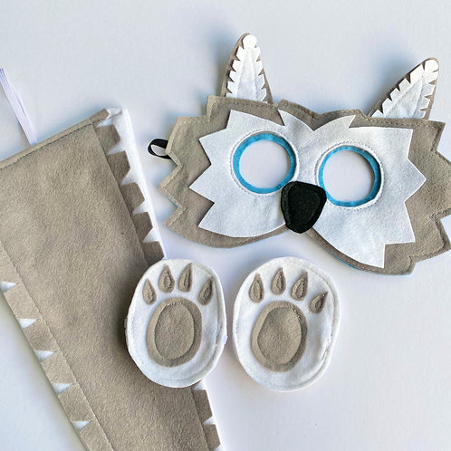 Any Size Wolf Costume, Wolf Mask and Tail