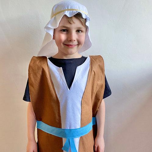 Nativity Shepherd Costume, Christmas Inn Keeper Costume, Joseph Nativity Costume