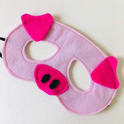 Any Size Pig Mask, Three Little Pigs Mask, Storytelling Farm Animal Costume