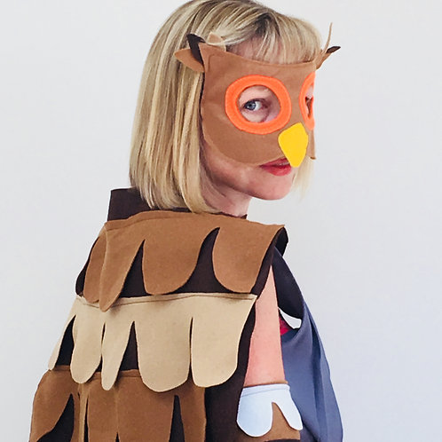 Wise Old Owl Costume, Brown Owl Outfit, Halloween Owl.