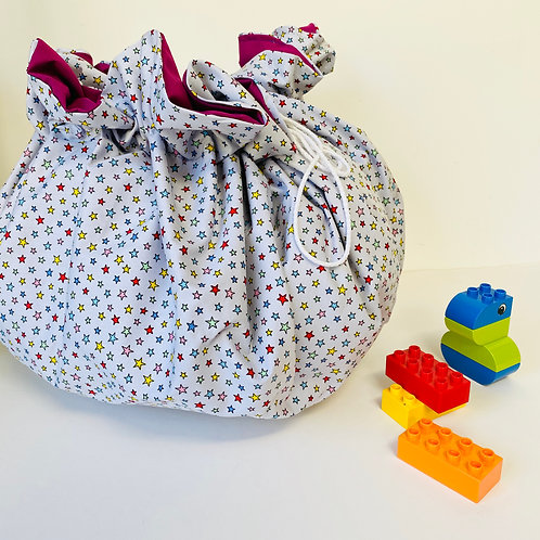 Drawstring Play Mat, Lay and Play Mat Bag.