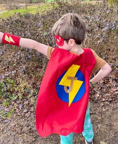 Kids Felt Superhero Costume with Letter