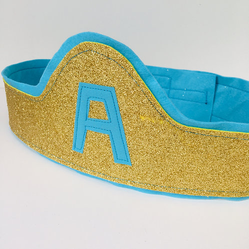 Any Size Silver Glitter Superhero Belt with Letter