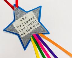 Personalised Glitter Star Hanging