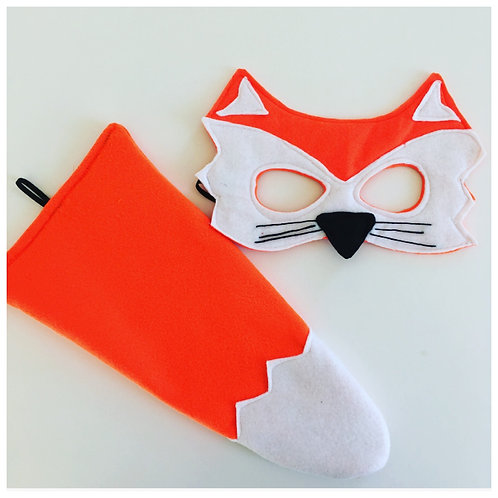 Any Size Fox Costume, Fox Mask and Tail