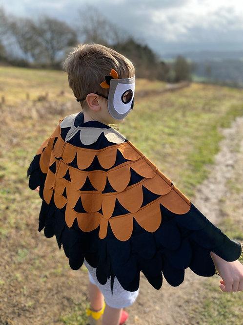 Eagle Wings, Bird of Prey Costume, Owl Dress Up Costume