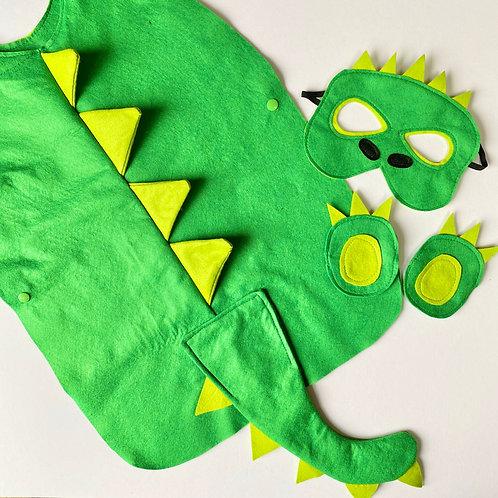 Dinosaur Costume, Felt Crocodile Costume, Halloween Dinosaur Outfit