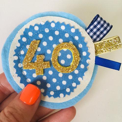 Adult Birthday Age Badge, Milestone Birthday Pin, Any Age Felt Badge