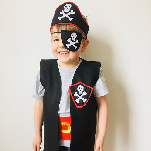 Any Size Pirate Costume, Pirate Outfit, Pirate Dress Up