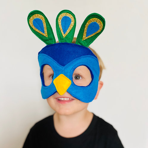 Blue Peacock Costume, Any Colour Indian Peafowl Wings