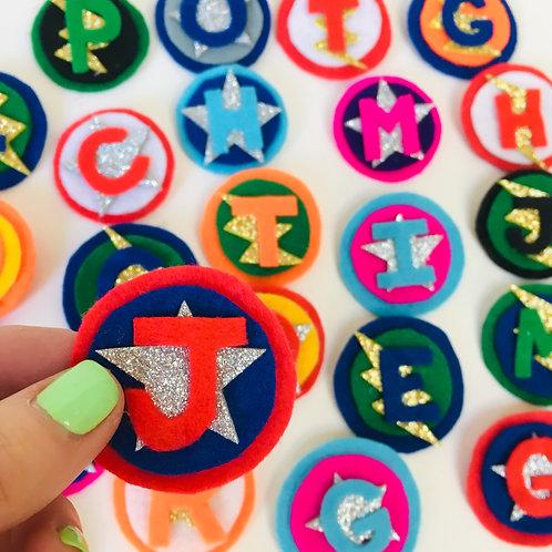 Superhero Pin Badge