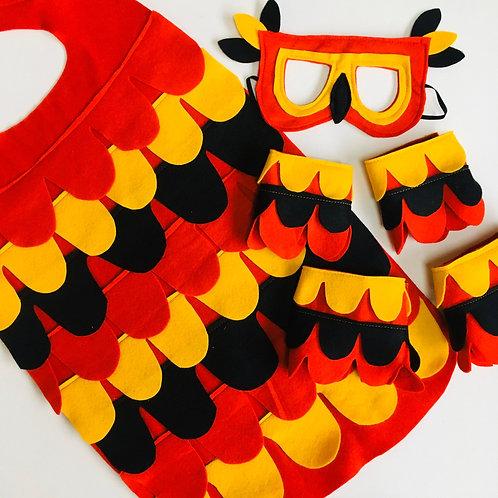 Phoenix Costume,  Firebird Phoenix Outfit, Halloween Phoenix