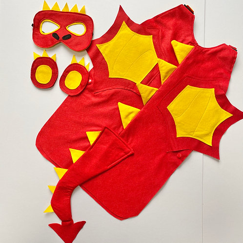 Winged Dragon Costume, Felt Dragon Costume, Halloween Dragon Outfit