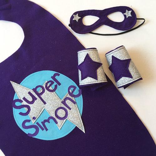 Adult Full Name Kids Felt Superhero Flash Cape