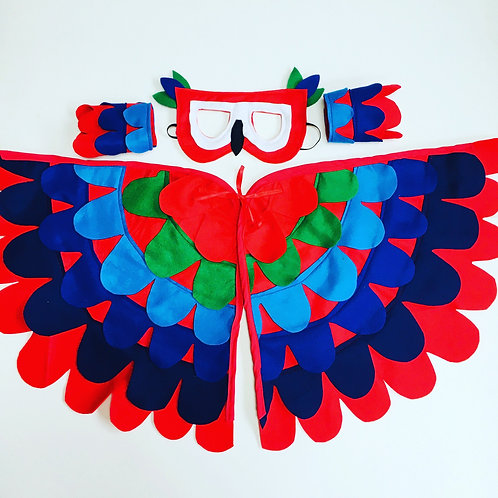 Parrot Wings, Macaw Parrot Costume, Halloween Parrot Outfit