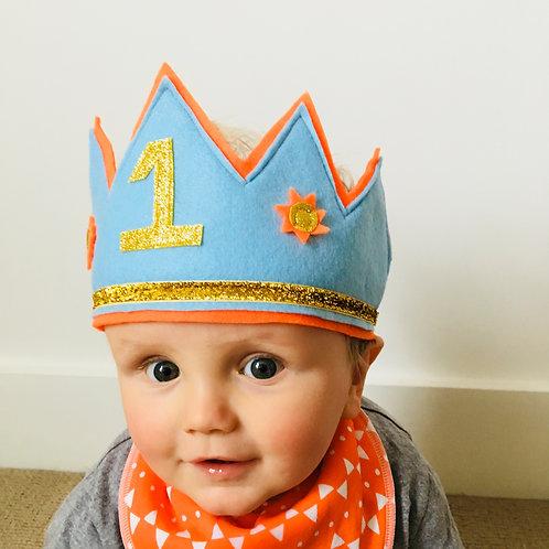 Felt Birthday Headband, Felt Letter Crown, Custom Felt Crown
