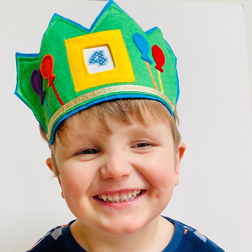 Reusable Birthday Crown, Insert your Own Crown