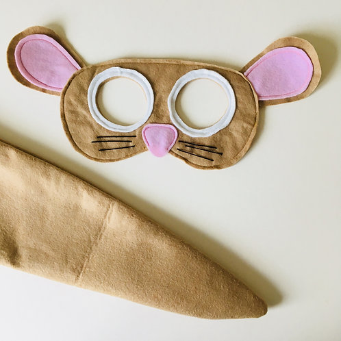 Any Size Mouse Costume, Mouse Mask and Tail