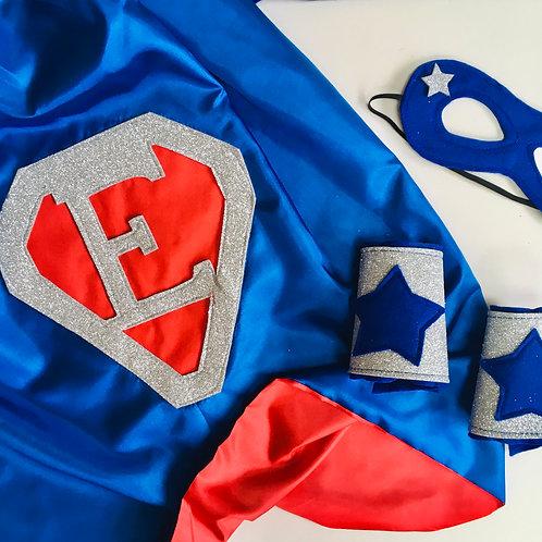 Adult Diamond Letter Superhero Cape