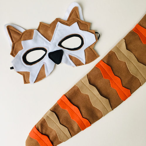 Any Size Red Panda Costume, Red Panda Mask and Tail