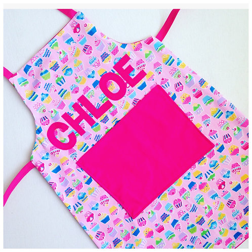 Custom Apron, Fabric Apron with Name, Personalised Baking Apron, Choose Fabric