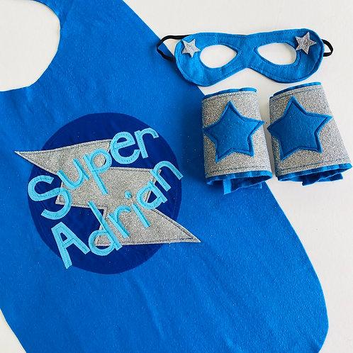 Kids Full Name Kids Felt Superhero Flash Cape