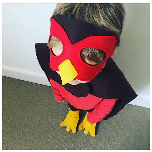 Any Size Robin Bird Costume, Christmas Robin Outfit, Robin Red Breast Mask