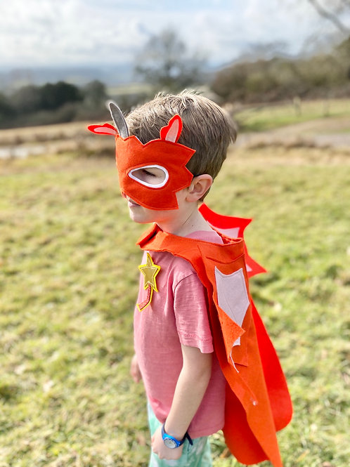 Any Size Orange Dragon Costume, World Book Day / Halloween Dragon