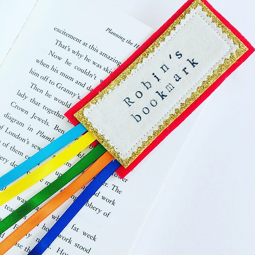 Personalised Bookmark with Ribbons