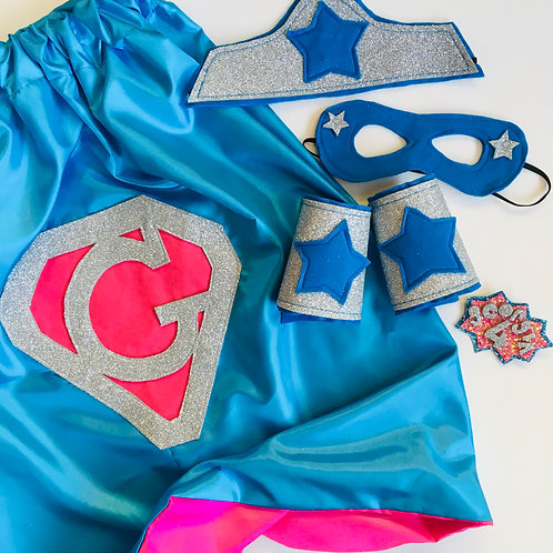 Kids Diamond Letter Superhero Cape
